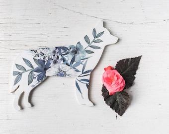 Husky Gift. Husky mom. Husky Art. wood sign. Husky Decor. floral print. For pet lovers. gift for pet mom. Dog mom. Dog lover.