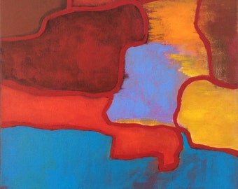 SALE Abstract Painting 16 x 20 Another Journey Original Art Betty Refour