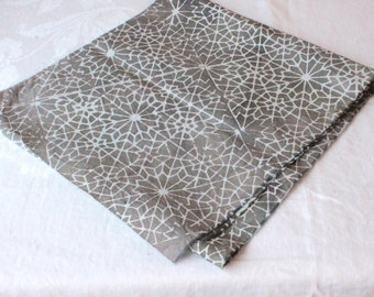 gray penrose print handmade batik fabric