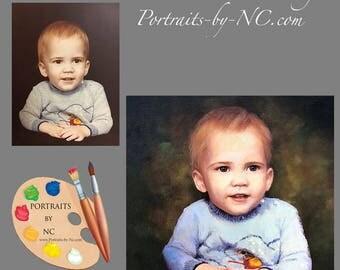 Custom Portrait of Children I Boy Portraits I Portraits of Boys I Child Portraits by NC