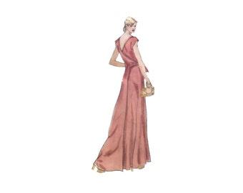 70s uncut Vogue Designer Original pattern Wrap Dress pattern 36-28-38 Maxi Dress Back Wrap Belleville vogue 1584