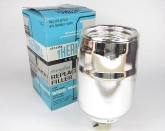 Vintage Thermos Replacement Filler no 62F Pint Size In Box Glass Vacuum Bottle Wide Mouth