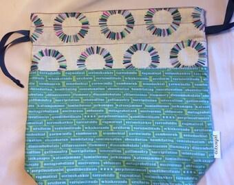 Medium Knitting Crochet Project Bag-Logolepsy