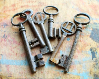 Rustic Antique Skeleton Key Set - Instant Collection // New Year Sale - 15% OFF - Coupon Code SAVE15