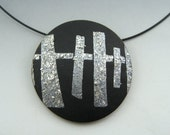 statement pendant on neckwire mixed metal look