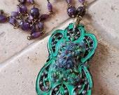 Victorian Violets meets The Princess Bride Necklace