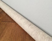 Beige felt door draft stopper /  sand colored window draft guard