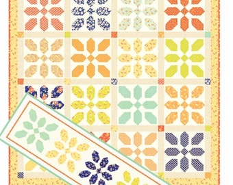 Merry-Go-Round quilt and table runner pattern from Fig Tree and Co. - fat quarter friendly