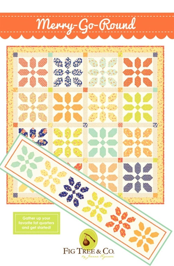 Merry go round quilt and table runner pattern from fig tree for Round table runner quilt pattern