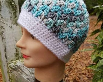 Icelandic Snow Ponytail Hat