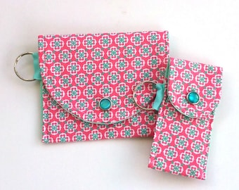 Coin Purse and Lip Balm Holder gift set for her, Teacher gift, Graduation gift, purse accessories for summer, Vegan