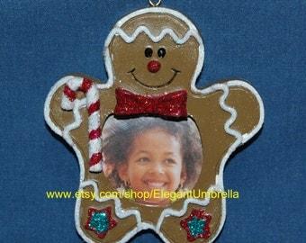 Gingerbread Man Photo Frame Ornament