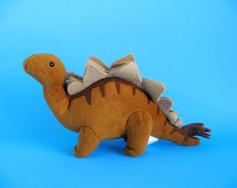Vintage Stegosaurus Dinosaur by Dakin Stuffed Animal 1990s Toy