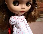 Smocked bishop dress pdf pattern for Blythe sized dolls