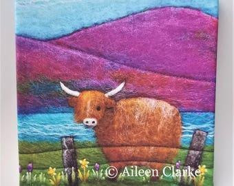 Highland Cow Box Canvas Print
