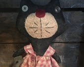 Welcome Spring Sale Primitive Cat Katie and Mouse Ready to ship