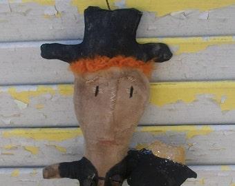 Primitive Doll Leprechaun, St. Patrick's Day Blimey