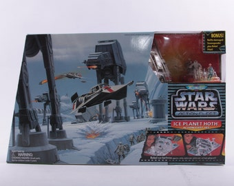 Star Wars, Play Set, Ice Planet, Hoth, Action Fleet, Vintage, Micro Machines ~ The Pink Room ~ 170130