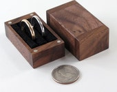 Ring Bearer Pillow Box, Double Ring Box of Black Walnut
