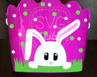 Instant Download Basket & Light Switch Cover Bunny int the Grass SVG Digital Cut Files, Commercial Use Cricut, Cricut Maker, Silhouette w DE
