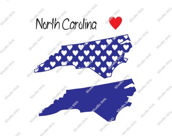 North Carolina, Raleigh, Charlotte, Chapel Hill, Duke, USA, Red, White, Blue, Vector, SVG, Silhouette, Commercial Use, Personal Use