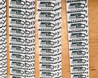 """3/4"""" Weaving Star Paper~ Seattle Seahawks (50 strips)"""