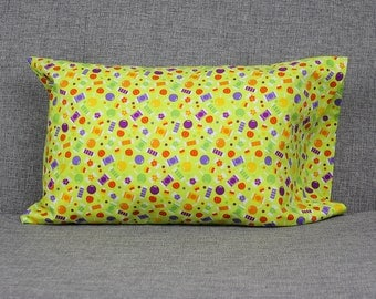 Halloween Candy Toddler Pillowcase - fits 13 x 18 Travel Pillow SALE