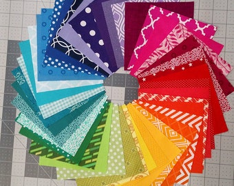 42 Color Wheel - Charm Squares - Quilting Fabric Bundle