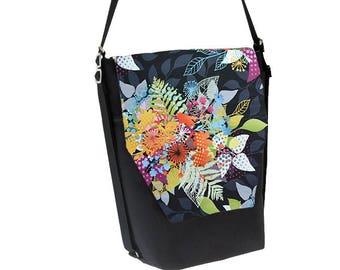 Convertible Backpack - Sling Purse - Shoulder Bag - Tablet Pocket Backpack Purse - REMOVABLE FLAP - Nightfall Fabric