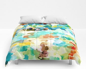 Abstract Art, Bed Cover, Comforter, King Bed Cover, Queen Bed Cover, Art Bedding, Full Comforter, Art Comforter, Watercolor Bedding