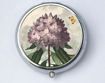 The Pontic Rhododendron Purple Flower Pill Case pillbox holder botanical