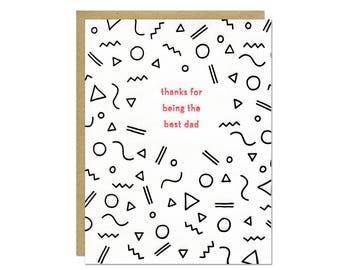 Best Dad Letterpress Card