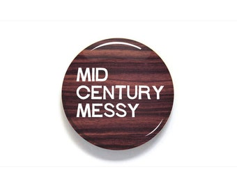 Mid Century Messy Button