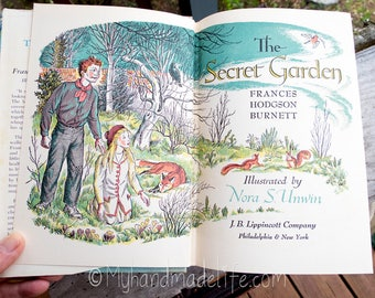 The Secret Garden Copyright 1938 | Rare Vintage Book | Frances Hodgson Burnett Author | Collectible Book | Book Collector Gift | Reader
