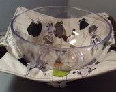 Microwave Bowl Cozy or Potholder Zombie Apocalypse Fabric