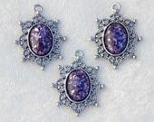 RESERVED for eobaba- Amethyst Glass Glitter and Resin Pieces