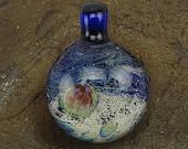 ON SALE Handmade Lampwork Glass Focal Space Pendant by Jason Powers SRA