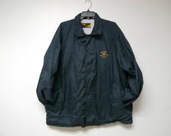 Camp Creek . Maine USA . charcoal gray waterproof light jacket . XL