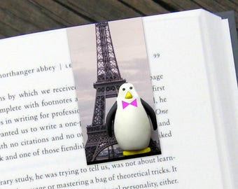 Penguin In Paris Magnetic Bookmark