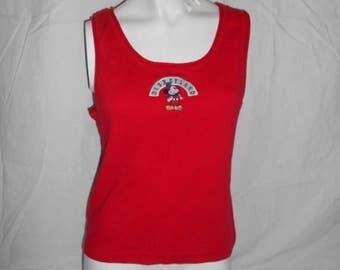 Closing Shop Sale 40% Off vintage red   Mickey Mouse Disneyland T-shirt tee  tshirt tee   tank top