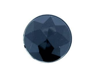 50 Pieces - 20mm Round Acrylic Faceted Gem Rhinestone in Black