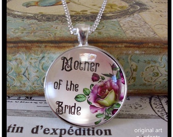 Mother of the Bride,  original art pendants, gift boxed and READY to SHIP, wedding jewelry, bridal jewelry,gifts for mom,bride and groom