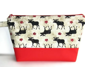 Wedge Bag, Sweater Project Size Knitting Bag, Mighty Moose, Canada, O Canada, Canada 150