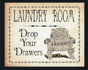 Laundry Design  - Vintage Style  by Cheryl Weaver