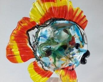 Lampwork fish, glass fish, Italian glass fish, miniature fish, lampwork glass, ocean scene, ocean decor, glass suncatcher, fish ornament