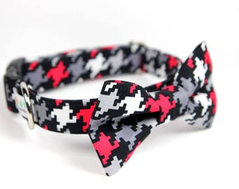 Houndstooth BowTie Dog Collar - Scotty Houndstooth