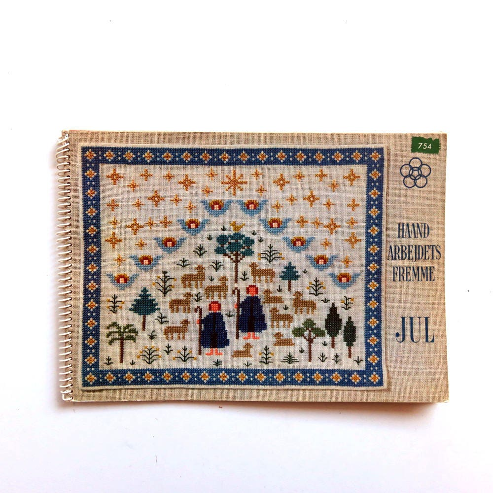 Vintage s danish christmas needlework embroidery