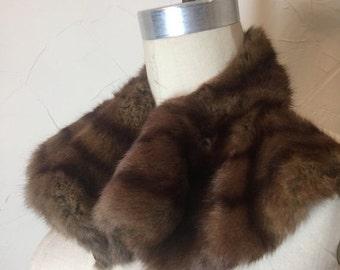 Fall sale 1940s collar fur collar 1950s collar vintage collar fur scarf neck tie fur scarf  1940s scarf