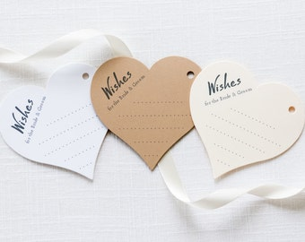 Wedding Advice Tags - Heart Wish Tags - Country Wish Tags - Wish Tree Tags - Rustic Wishing Tree Tags - Guestbook Tags