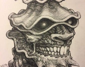 Portrait no. 552 original pencil drawing